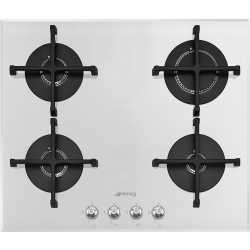 SMEG GAS HOB PV164B2 BLACK WHITE BASE