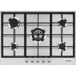 SMEG GAS HOB PX175 STAINLESS STEEL BASE 72.5 CM