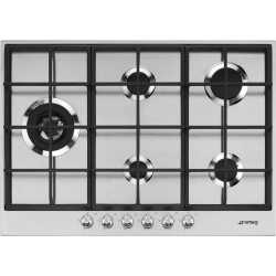 SMEG GAS HOB PX175L STAINLESS STEEL BASE 73 CM