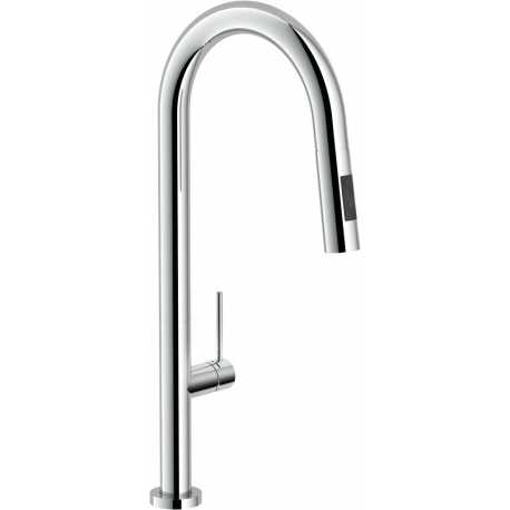 NOBILI POP GOOSE NECK SINGLE LEVER SINK MIXER TAP CHROME