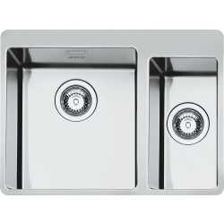 SMEG LFT3418RS MIRA KITCHEN SINK 1.5 BOWLS BRUSHED STAINLESS STEEL FLUSH FITTED
