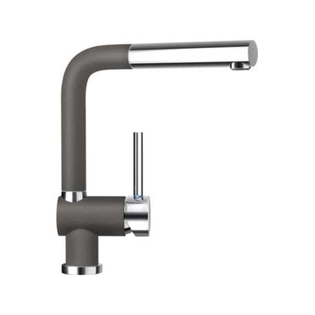 SCHOCK PIEGA SINK MIXER TAP WITH PULL OUT SPRAY SILVERSTONE