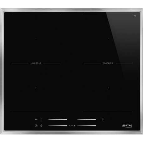 SMEG SI2M7643FX INDUCTION HOB BLACK CERAMIC GLASS 60 CM