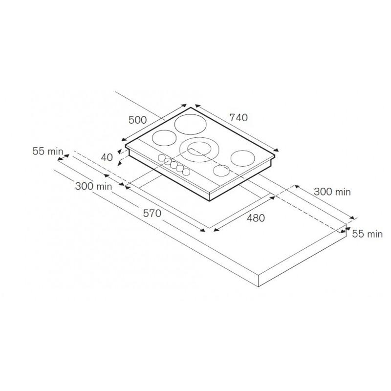 la germania gaskochfeld futura 70 edelstahl 70 cm fab appliances. Black Bedroom Furniture Sets. Home Design Ideas