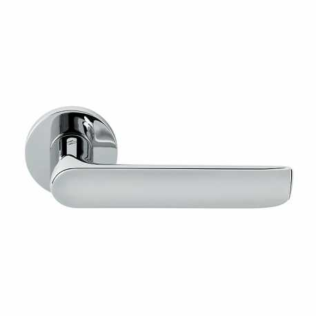 COLOMBO DESIGN DOOR HANDLES PAIR LUND SERIES ON ROSE MADE IN ITALY