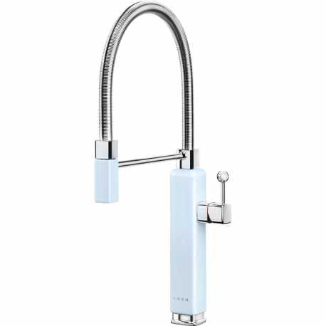 SMEG MDF50PB SINGLE LEVER SINK MIXER TAP 50'S STYLE BLUE