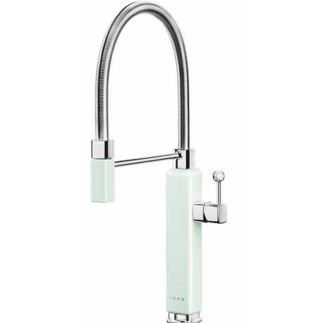 SMEG MDF50PG SINGLE LEVER SINK MIXER TAP 50'S STYLE PASTEL GREEN