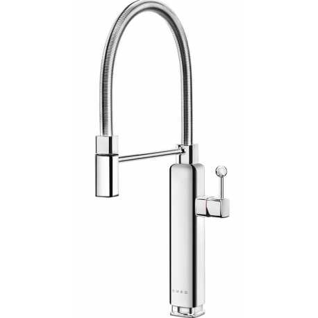 SMEG MDF50SS SINGLE LEVER SINK MIXER TAP 50'S STYLE CHROME