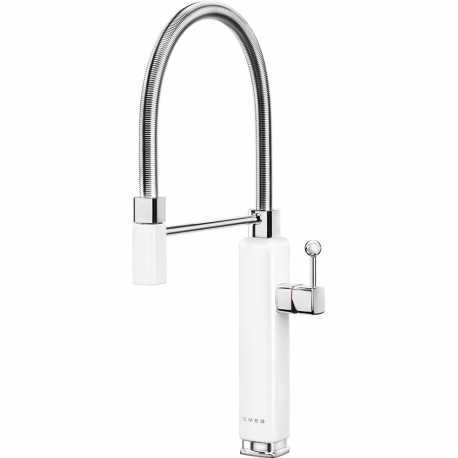 SMEG MDF50WH SINGLE LEVER SINK MIXER TAP 50'S STYLE WHITE