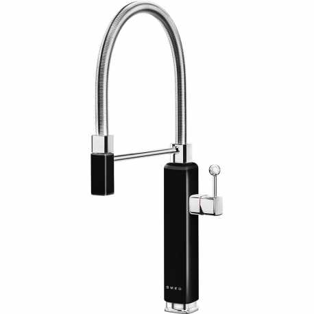 SMEG MDF50BL SINGLE LEVER SINK MIXER TAP 50'S STYLE BLACK