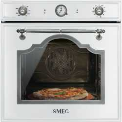 SMEG SFP750BSPZ ELECTRIC MULTIFUNCTION PYROLITIC PIZZA OVEN WHITE CORTINA DESIGN 60 CM