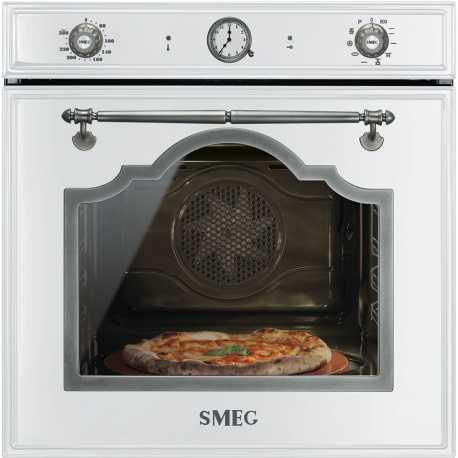 SMEG ELECTRIC THERMOVENTILATED PIZZA OVEN SFP750BSPZ WHITE CORTINA DESIGN 60 CM