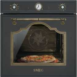 SMEG SFP750AOPZ ELECTRIC MULTIFUNCTION PYROLITIC PIZZA OVEN ANTHRACITE CORTINA DESIGN 60 CM