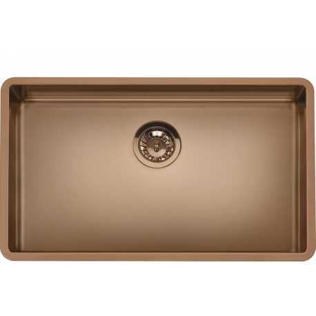 SMEG VSTR71CUX MIRA UNDERMOUNTED KITCHEN SINK SINGLE BOWL BRUSHED STAINLESS STEEL COPPER