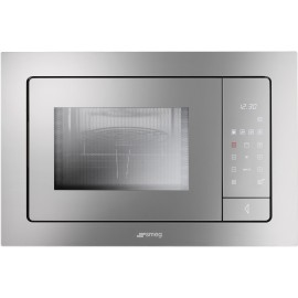 SMEG MICROWAVE OVEN WITH ELECTRIC GRILL FME120 SILVER GLASS 60 CM