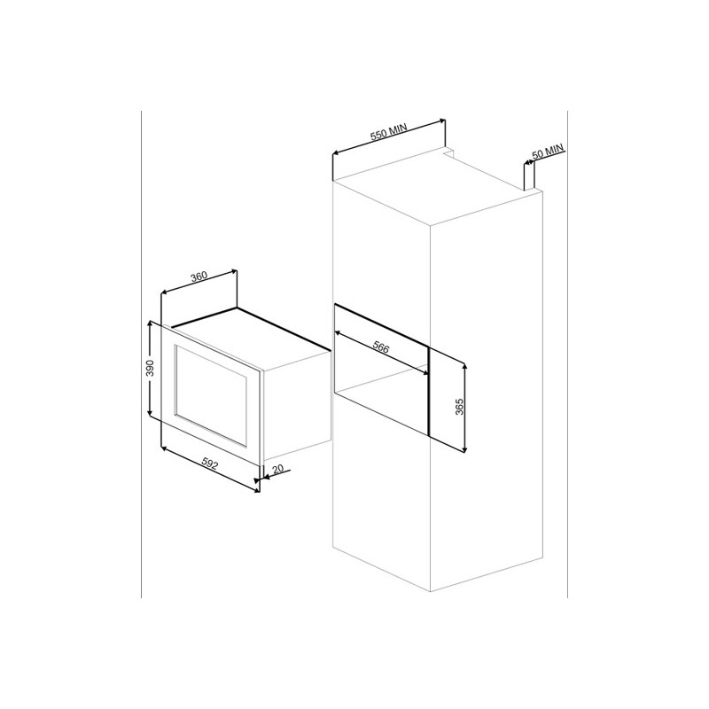smeg mikrowellenherd mit elektrogrill mi20x 1 edelstahl 60. Black Bedroom Furniture Sets. Home Design Ideas