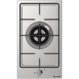 SMALVIC GAS HOB DOMINO PI-NC30 BDC VS STAINLESS STEEL - 30 CM