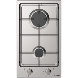 SMALVIC GAS HOB DOMINO PI-NC30 2G VS STAINLESS STEEL - 30 CM