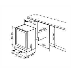 SMEG UNTERBAU-WEINSCHRANK CVI338LWX2 CLASSICI DESIGNLINIE