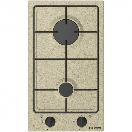 SMALVIC GAS HOB DOMINO PI-NC30 2G VS OATMEAL - 30 CM