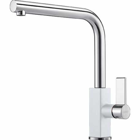 FRANKE MARIS SINGLE LEVER SINK MIXER TAP CHROME AND WHITE