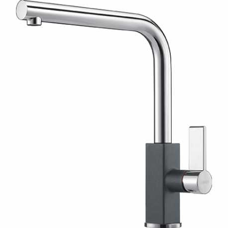 FRANKE MARIS SINGLE LEVER SINK MIXER TAP CHROME AND GRAPHITE