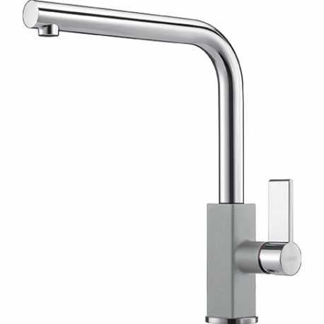 FRANKE MARIS SINGLE LEVER SINK MIXER TAP CHROME AND STONE GREY