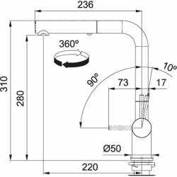 FRANKE ACTIVE PLUS METALLIC ROBINET MITIGEUR MONOCOMMANDE AVEC DOUCHETTE BLANC MAT