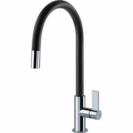 FRANKE AMBIENT SINGLE LEVER SINK MIXER TAP CHROME AND BLACK