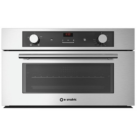 SMALVIC ELECTRIC MULTIFUNCTION COMPACT OVEN FI N36F VT INOX-BT5-MX-TM STAINLESS STEEL - 60 CM