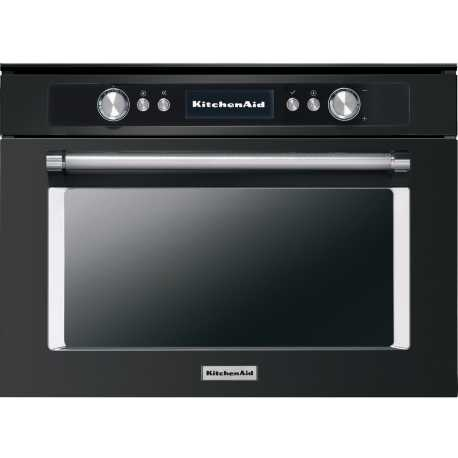 KITCHEN AID BLACK STAINLESS STEEL COMBI STEAM OVEN 45 CM KOQCXB 45600