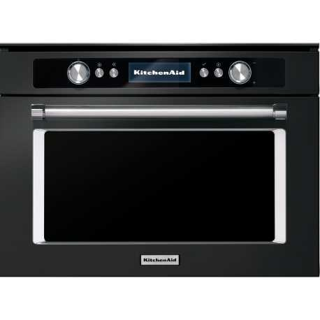 KITCHEN AID BLACK STAINLESS STEEL COMBI MICROWAVE OVEN 45 CM - KMQCXB 45600