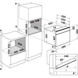 KITCHEN AID FOUR MICRO-ONDES COMBINÉ 45 CM EN ACIER INOXYDABLE NOIR - KMQCXB 45600