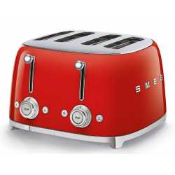 SMEG TOASTER 4 SLICES 50'S STYLE RED TSF03RDEU