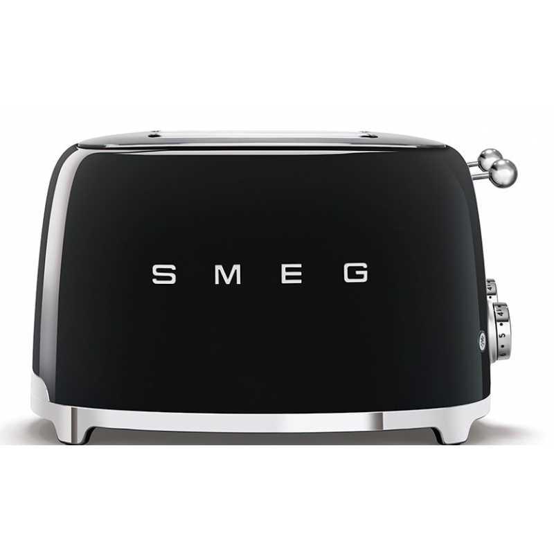 Schwarz Designlinie Stil Der 50° Jahre SMEG TSF03BLEU 4-Schlitz-Toaster