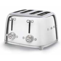 SMEG TOASTER 4 SLICES 50'S STYLE CHROME TSF03SSEU