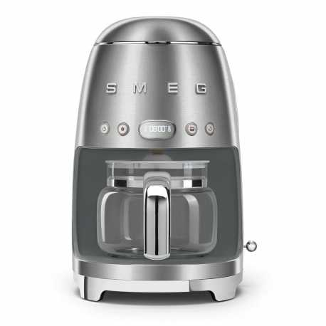 SMEG DRIP FILTER COFFEE MACHINE DCF02SSEU BRUSHED STEEL 50'S STYLE
