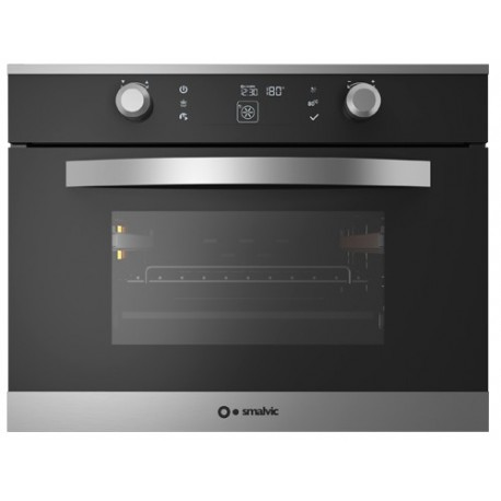 SMALVIC COMPACT ELECTRIC MULTIFUNCTION OVEN LINEAR 60 FI-45MT LX12-ETCW SMOKED GLASS - 60 CM