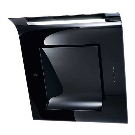 ELICA HOTTE DÉCORATIVE MURALE SINFONIA BLACK 80 CM CL. C