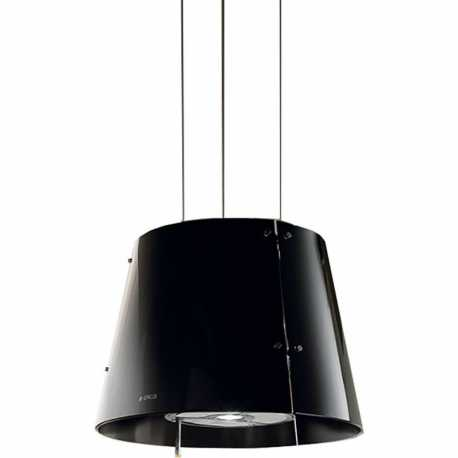 ELICA GRACE ISLAND HOOD BLACK GLASS Ø 51 CM
