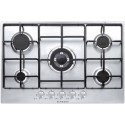 SCHOCK GAS HOB SILVER PC75AV STAINLESS STEEL 75 CM