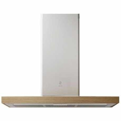 ELICA BIO WALL MOUNTED HOOD WHITE AND OAK WOOD 90 CM