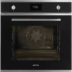 SMEG ELECTRIC PYROLYTIC OVEN SFP6401TVN1 BLACK CUCINA AESTHETIC