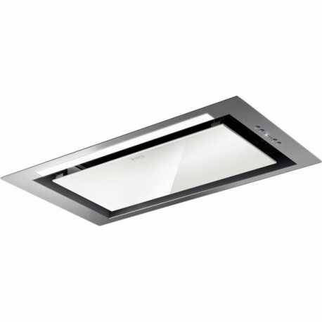 ELICA HIDDEN INTEGRATED HOOD STAINLESS STEEL AND WHITE GLASS