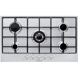 SCHOCK GAS HOB SILVER PC90AV STAINLESS STEEL 90 CM