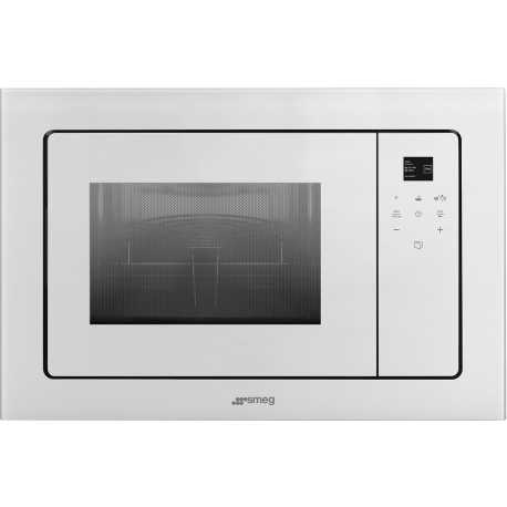 SMEG MICROWAVE OVEN WITH ELECTRIC GRILL FMI120B1 WHITE GLASS