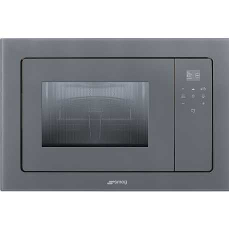SMEG MICROWAVE OVEN WITH ELECTRIC GRILL FMI120S2 SILVER GLASS