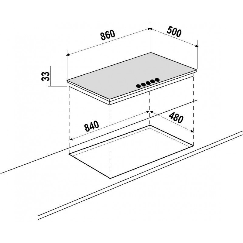 schock gaskochfeld silver pc90av hafer 90 cm fab appliances. Black Bedroom Furniture Sets. Home Design Ideas