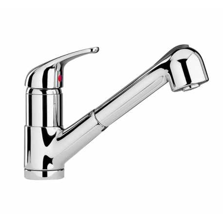 SCHOCK AQUASMART DOCCIA SINGLE LEVER SINK MIXER TAP WITH PULL OUT SPRAY CHROME