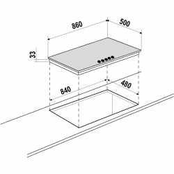 TABLE DE CUISSON SCHOCK SILVER PC90AV GRIS TOUTERELLE 90 CM